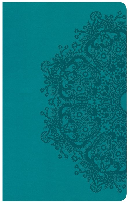 CSB Ultrathin Reference Bible, Teal Leathertouch (Imitation Leather)