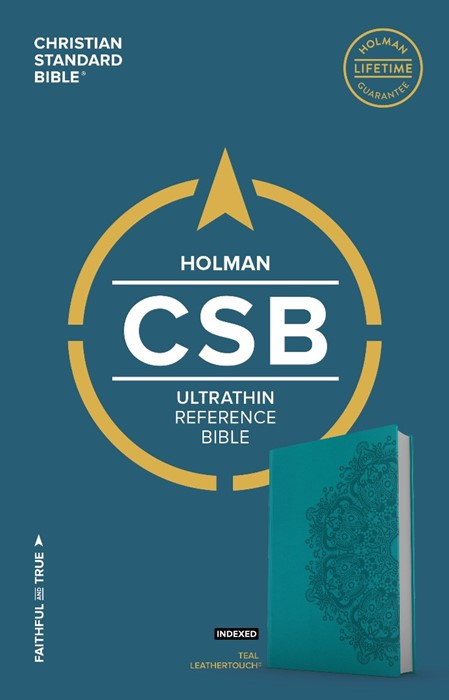 CSB Ultrathin Reference Bible, Teal Leathertouch, Indexed (Imitation Leather)