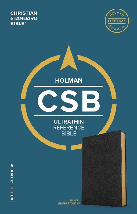 CSB Ultrathin Reference Bible, Black Leathertouch (Imitation Leather)