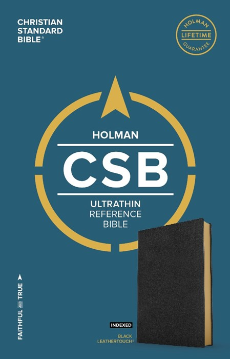 CSB Ultrathin Reference Bible, Black Leathertouch, Indexed (Imitation Leather)