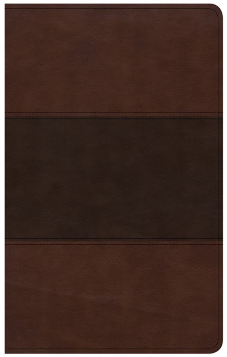 CSB Ultrathin Reference Bible, Saddle Brown, Indexed (Imitation Leather)