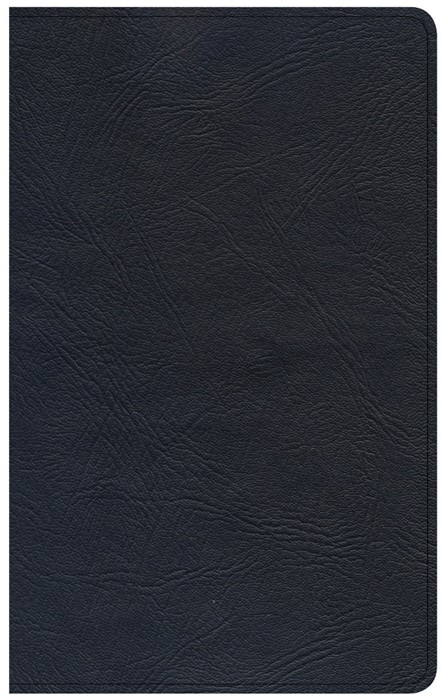 CSB Ultrathin Reference Bible, Black Premium Leather (Leather Binding)