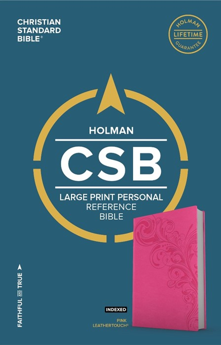 CSB Large Print Personal Size Reference Bible, Pink (Imitation Leather)