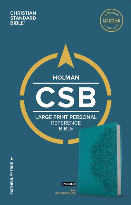 CSB Large Print Personal Size Reference Bible, Teal (Imitation Leather)