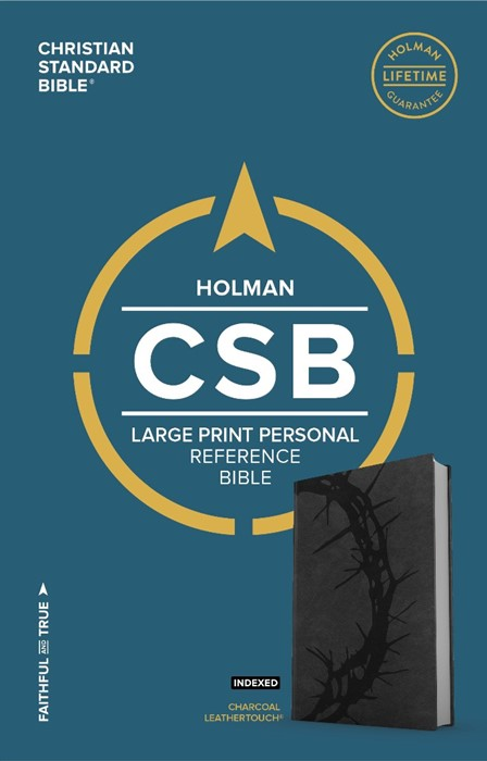 CSB Large Print Personal Size Reference Bible, Charcoal (Imitation Leather)