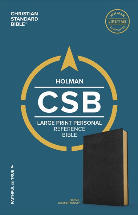 CSB Large Print Personal Size Reference Bible, Black (Imitation Leather)