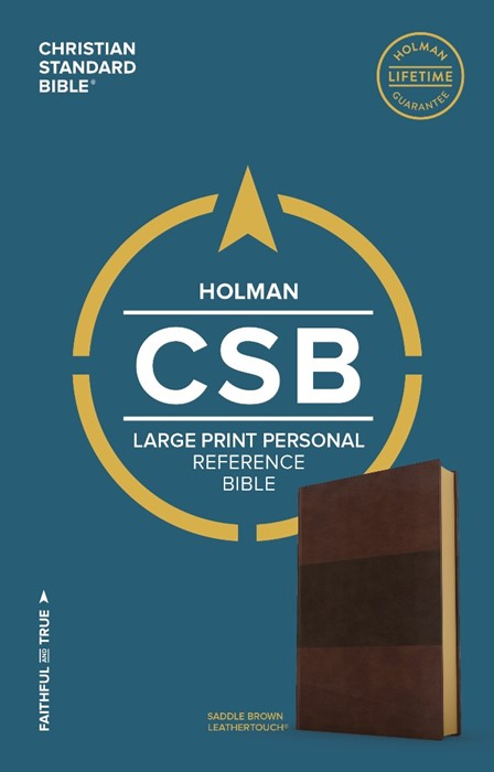 CSB Large Print Personal Size Reference Bible, Saddle Brown (Imitation Leather)