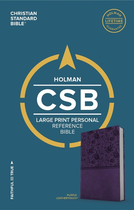 CSB Large Print Personal Size Reference Bible, Purple (Imitation Leather)