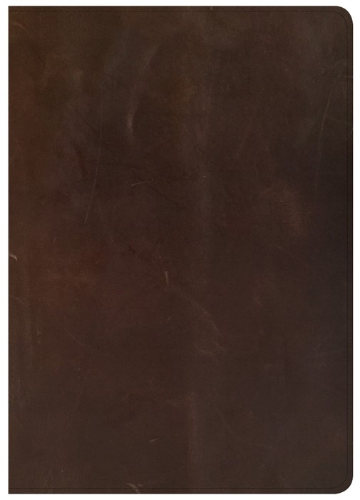 CSB Giant Print Reference Bible, Brown Genuine Leather (Genuine Leather)