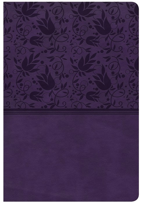 CSB Giant Print Reference Bible, Purple Leathertouch, Indexe (Leather Binding)