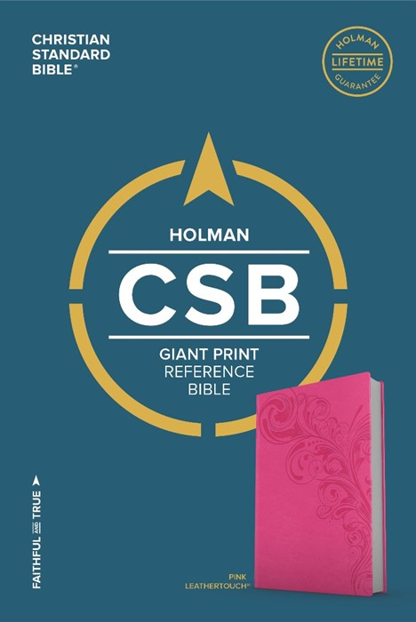 CSB Giant Print Reference Bible, Pink Leathertouch (Leather Binding)
