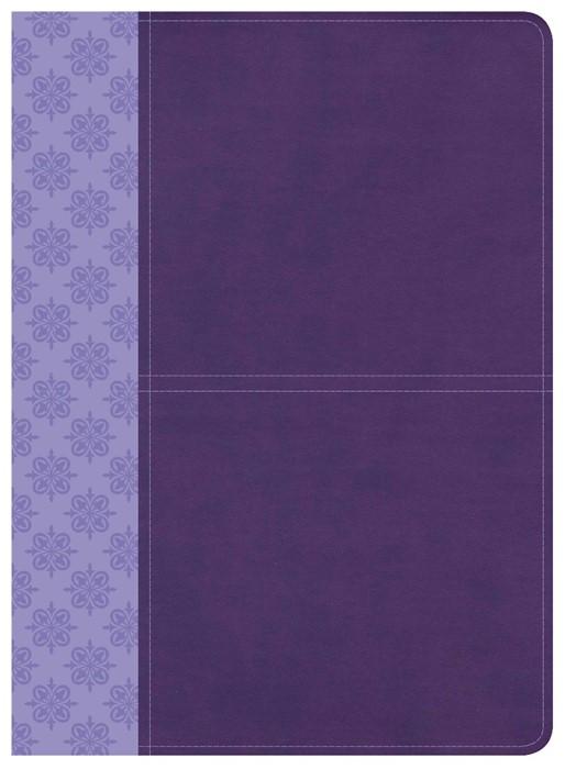 CSB Study Bible, Purple Leathertouch (Imitation Leather)