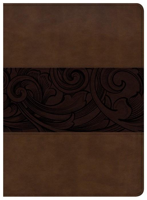 CSB Study Bible, Mahogany Leathertouch, Indexed (Imitation Leather)