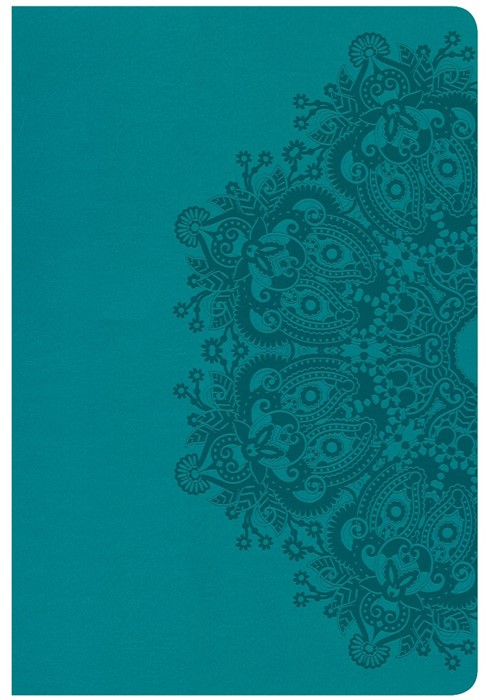 CSB Giant Print Reference Bible, Teal Leathertouch (Imitation Leather)