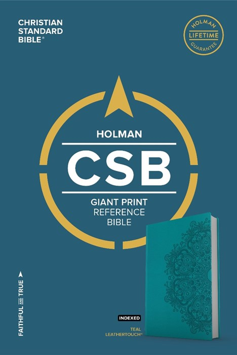 CSB Giant Print Reference Bible, Teal Leathertouch, Indexed (Imitation Leather)