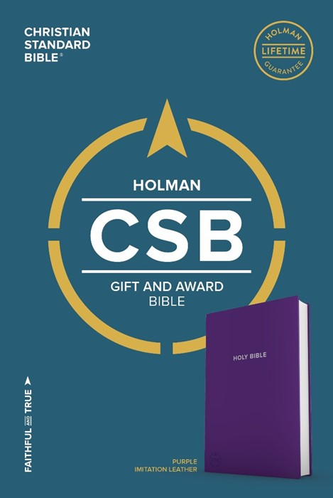 CSB Gift & Award Bible, Purple (Imitation Leather)