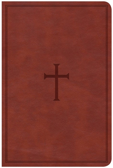 CSB Compact Ultrathin Reference Bible, Brown Leathertouch, I (Imitation Leather)