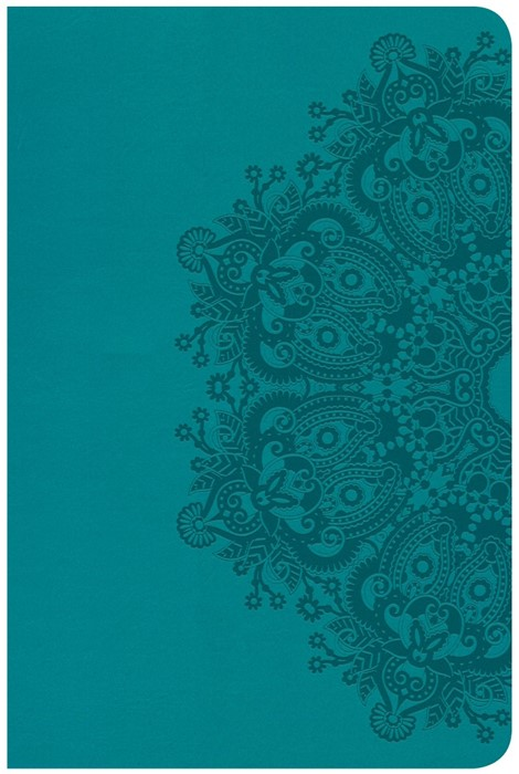 CSB Compact Ultrathin Reference Bible, Teal Leathertouch (Imitation Leather)