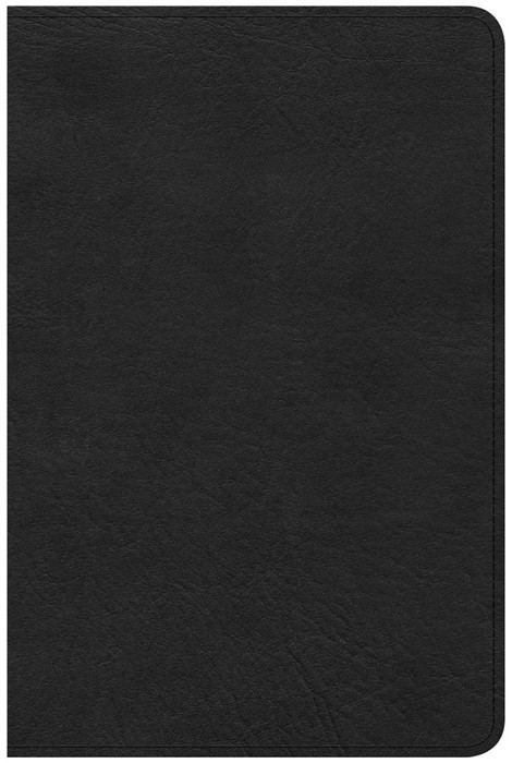 CSB Compact Ultrathin Reference Bible, Black Leathertouch (Imitation Leather)