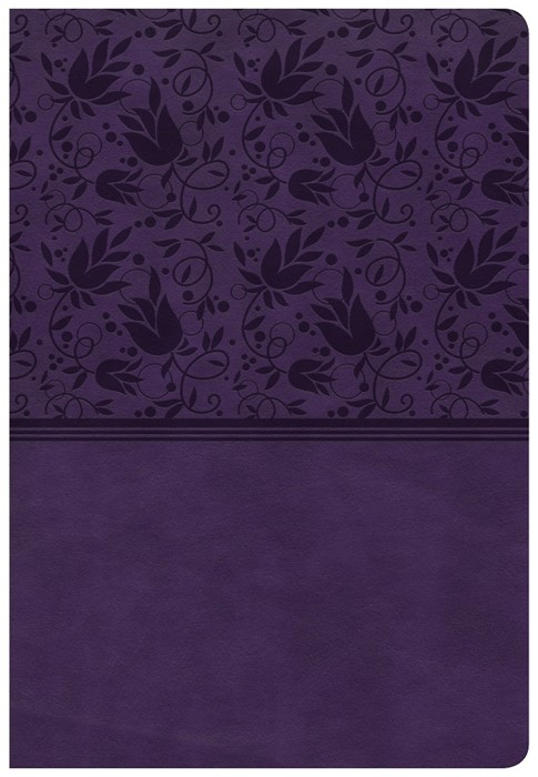 CSB Super Giant Print Reference Bible, Purple Leathertouch (Imitation Leather)