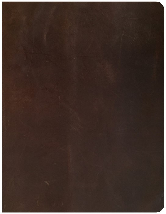 CSB Notetaking Bible, Brown Genuine Leather Over Board (Leather Binding)
