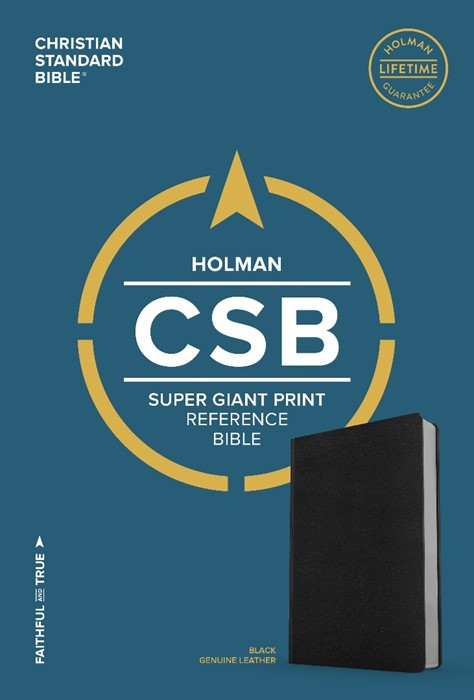 CSB Super Giant Print Reference Bible, Brown Genuine Leather (Genuine Leather)