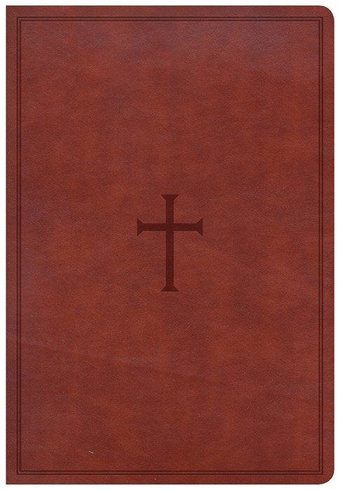 CSB Super Giant Print Reference Bible, Brown Leathertouch (Imitation Leather)