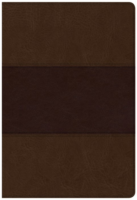 CSB Super Giant Print Reference Bible, Saddle Brown (Imitation Leather)