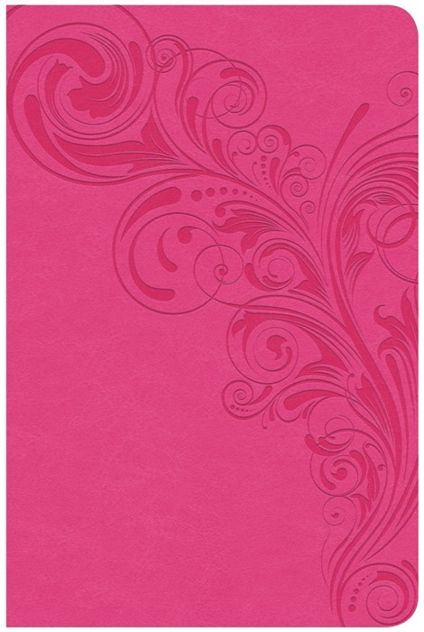 CSB Super Giant Print Reference Bible, Pink, Indexed (Imitation Leather)