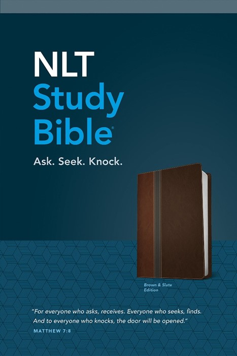NLT Study Bible, Tutone Brown/Slate (Imitation Leather)