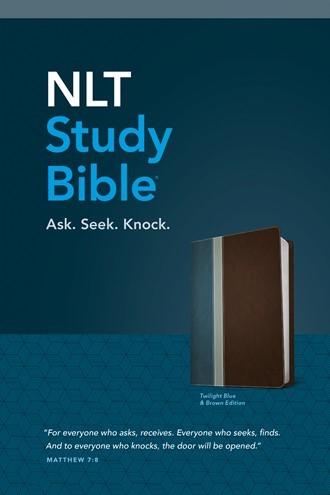 NLT Study Bible, Tutone Twilight Blue/Brown (Imitation Leather)
