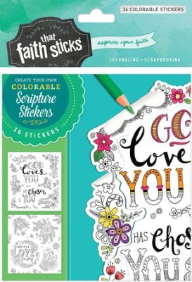 1 Thessalonians 1:4 Colorable Stickers (Stickers)