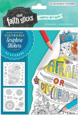 Joshua 1:9 Colorable Stickers (Stickers)