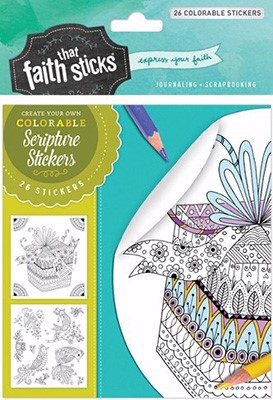 Psalm 16:11 Colorable Stickers (Stickers)