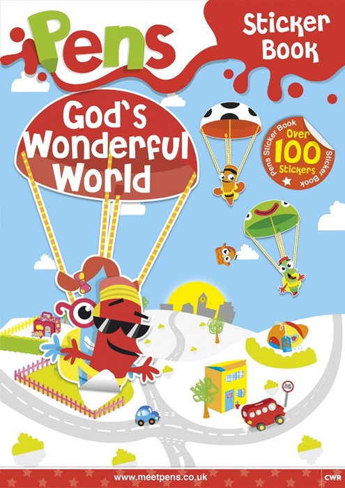 Pens Sticker Book: God's Wonderful World (Paperback)