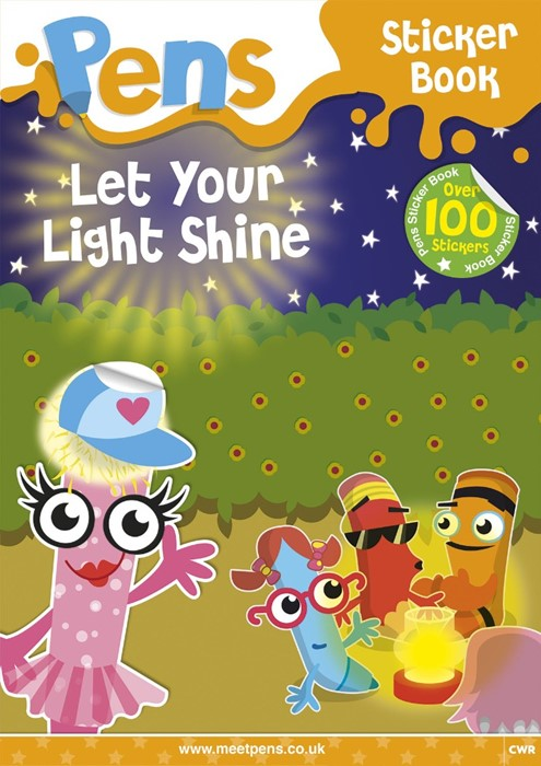 Pens Sticker Book: Let Your Light Shine (Paperback)
