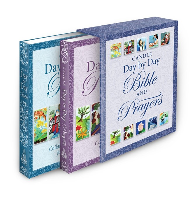 Candle Day By Day Bible And Prayers Gift Set (Hard Cover)