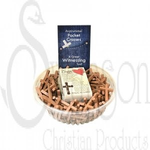 Pocket Wooden Cross - Pack of 144 (Wood)
