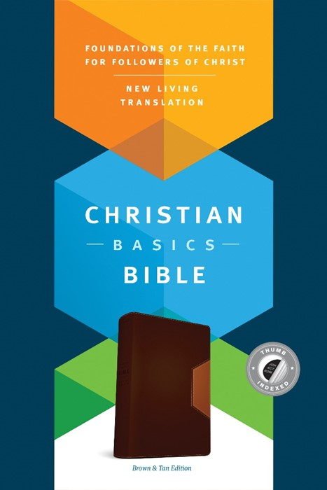 The NLT Christian Basics Bible Brown/Tan, Indexed (Imitation Leather)
