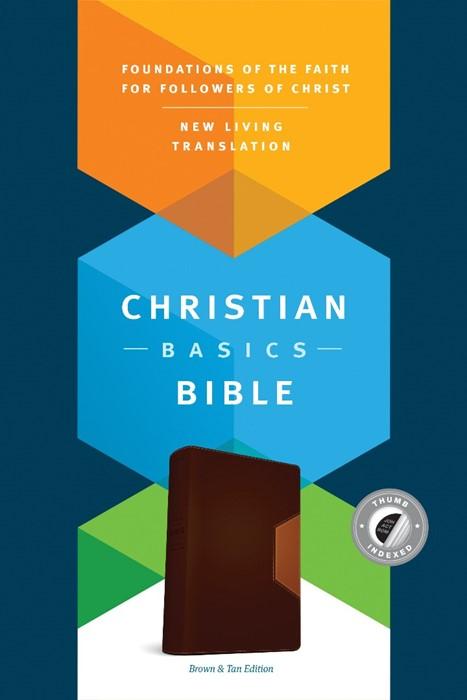 The NLT Christian Basics Bible Brown/Tan, Indexed (Imitation Leather)