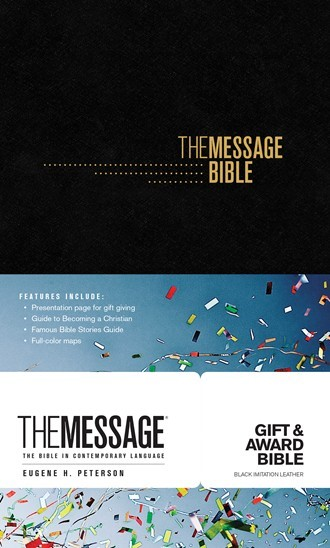 Message Gift and Award Bible, Black (Imitation Leather)