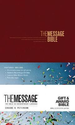 Message Gift and Award Bible, Burgundy (Imitation Leather)
