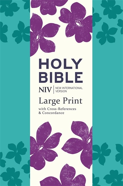 NIV Large Print Single Column Deluxe Reference Bible (Imitation Leather)