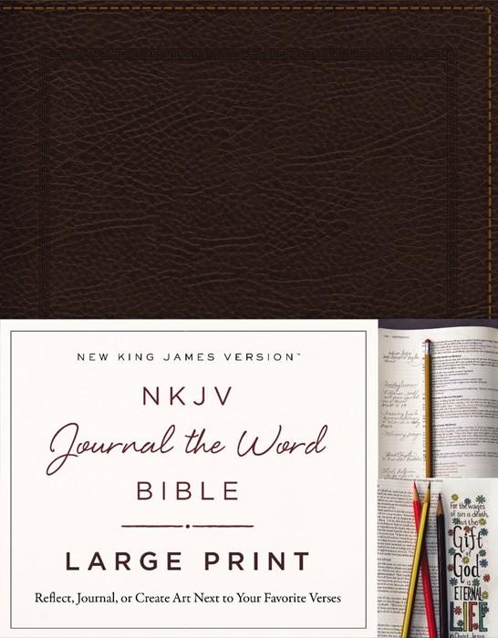 NKJV Journal the Bible Large Print BL (Bonded Leather)