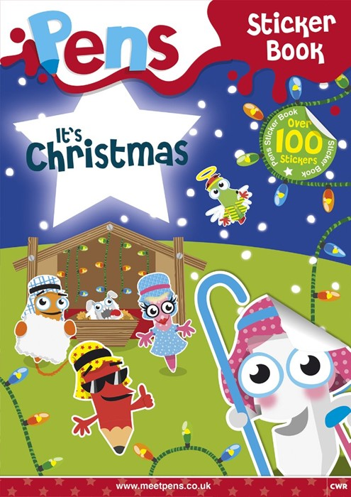 Pens Sticker Book: It's Christmas (Paperback)