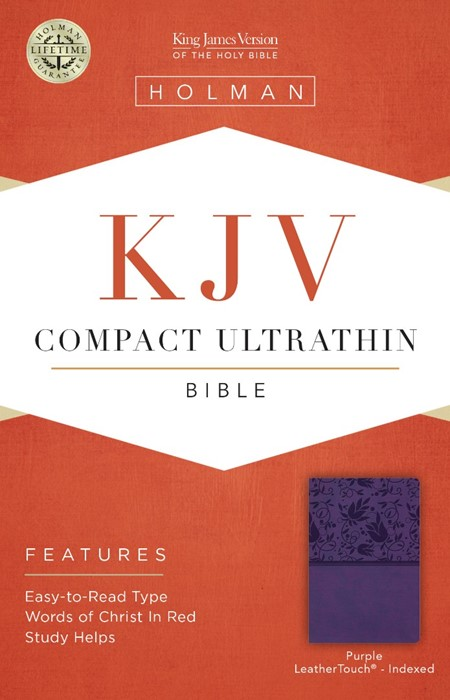 KJV  Compact Ultrathin Reference Bible, Purple Leathertouch, (Leather Binding)