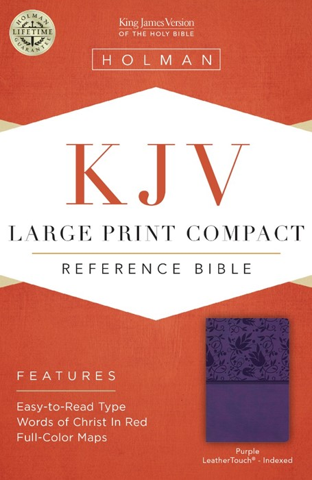 KJV Large Print Compact Reference Bible, Purple Leathertouch (Leather Binding)