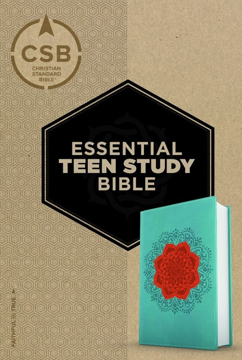 CSB Essential Teen Study Bible, Personal Size, Coral Flower (Imitation Leather)