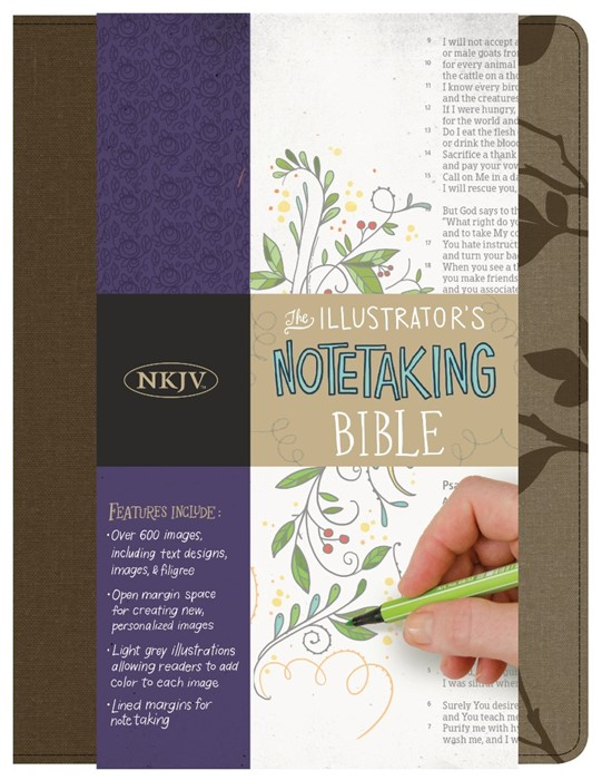 NKJV Illustrator's Notetaking Bible, Hickory Canvas (Hard Cover)