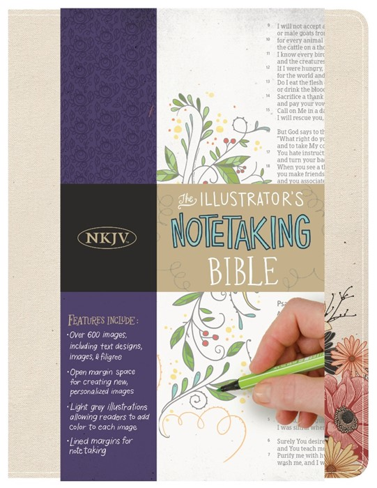 NKJV Illustrator's Notetaking Bible, Floral Canvas (Hard Cover)